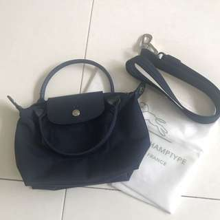 authentic longchamp sling small