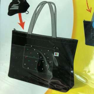 Black Tote Foldable Bag
