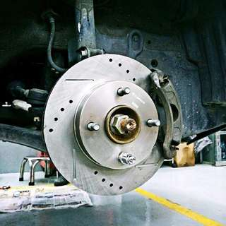 IMP Improve sport crossed drilled brake disc