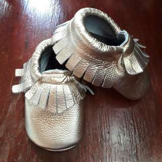 Bow Leather Baby Mocassins Shoes