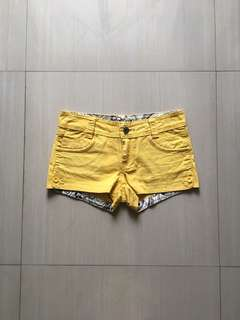 People Are People Yellow Shorts