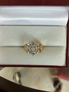 Women Gold Diamond Ring 10K