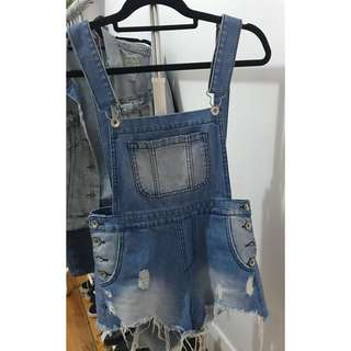 """""""Junk"""" Overall Shorts"""