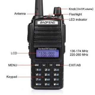Baofeng UV-82 walkie talkie 2 way radio dual band dual ptt brand new in box