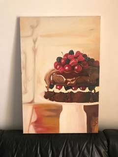 Cake - acrylic on canvas