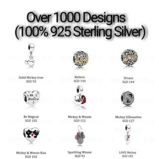 Over 1000 Designs (925 Sterling Silver) To Choose From, Compatible With Pandora, T29