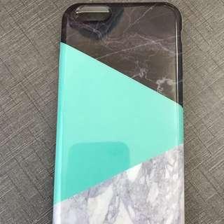 Black green white marble