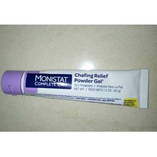 Monistat Complete Care Chafing Relief Powder Gel.