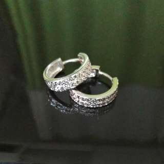 White Gold Plated Silver Earrings #15Off#Hot80