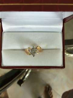 Women Diamond Gold Ring 10K