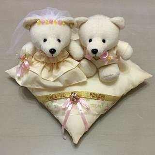 Personalised Wedding Bears on Ring Pillow-Limited Edition