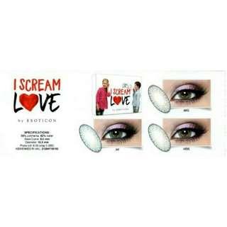 Softlens I love Scream by Exoticon