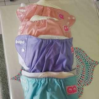 Cloth Diapers QQ new (4pcs)