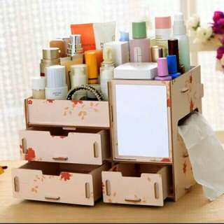 Makeup wooden organizer