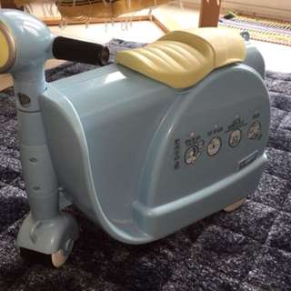 Baby blue skoot luggage carrier scooter