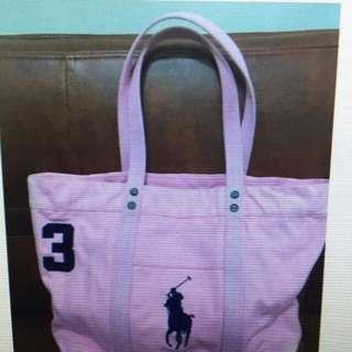 粉紅色Polo大馬仔袋