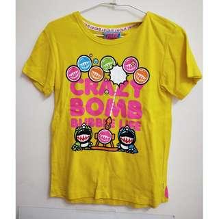 🚚 ✿二手✿  crazy bomb 黃色雙面圖案上衣