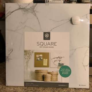 Marble Square Dry Erase Board