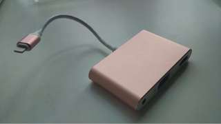 Lighting to HDMI / VGA + Audio Adaptor (warna rosegold)