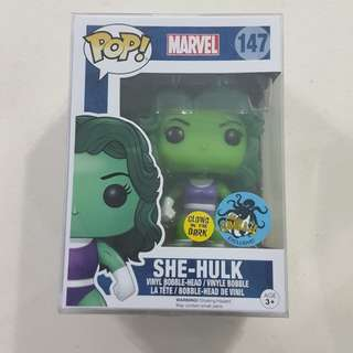 Legit Brand New With Box Funko Pop Marvel She Hulk Glow In The Dark Comikaze Exclusive