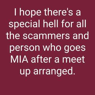 Scammers and MIA person!