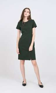 Forest green work dress