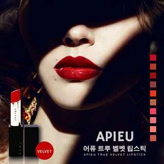 🚚 韓國 Apieu True Velvet lipstick 絲絨唇膏 3.5g