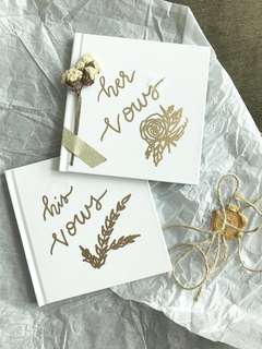 His and Her Vows booklet