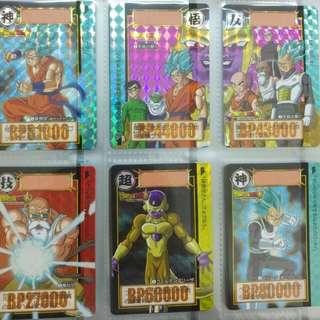 全新 日版 龍珠卡 Bandai Carddass 本彈33-34彈 Complete box