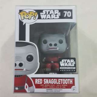 Legit Brand New With Box Funko Pop Star Wars Red Snaggletooth Smuggler's Bounty Exclusive