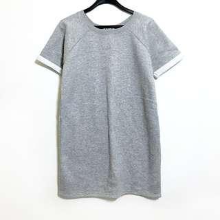Asos Heather Grey Shift Tee Shirt Dress