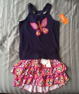 NEW Gymboree tank top with matching skort