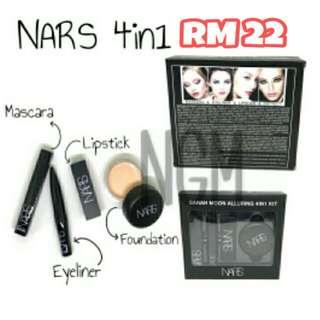NARS 4in1 ( Lipstick + Foundation + Eyeliner + Mascara )