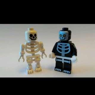 Lego Minifigs Skeleton 骷髗骨 (2款)