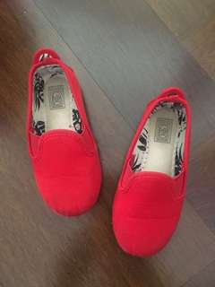 Flossy Red Shoes