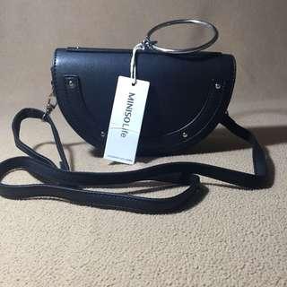 Miniso Semicircle Crossbody Bag Black