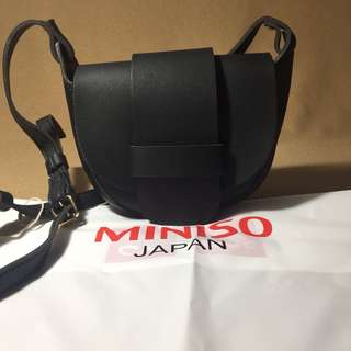Miniso Crossbody Shoulder Bag Black