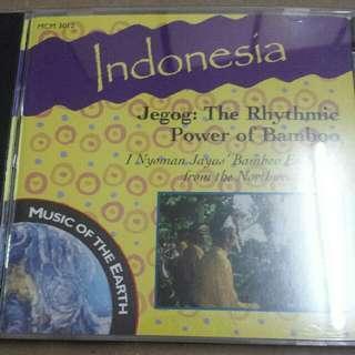 Music CD: I Nyoman Jayus' Bamboo Ensemble From The Northwest Of Bali–Indonesia - Jegog: The Rhythmic Power Of Bamboo