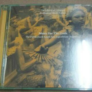 Music CD (Gamelan): Unknown Artist–Music For The Gods: The Fahnestock South Sea Expedition: Indonesia
