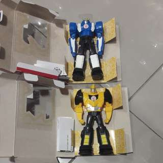 Transformer robot in disguise-bumblebee and strongarm