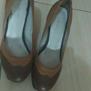 High heels vincci brown