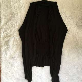 BOBSON Black sleeveless cardigan : Freesize