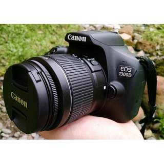 Kredit dp 10% Canon EOS 1300D with 18-55mm f3.5-5.6 IS II cicilan tan CC