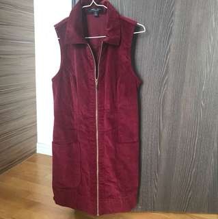 Maroon corduroy dress - from USA