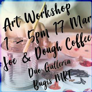 Guided art workshop - complete a painting in 4 hrs