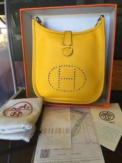 Hermes Evelyn Yellow