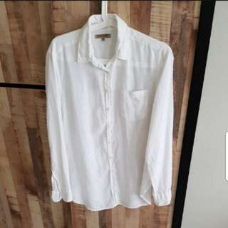 Sacoor brothers white long sleeves shirt
