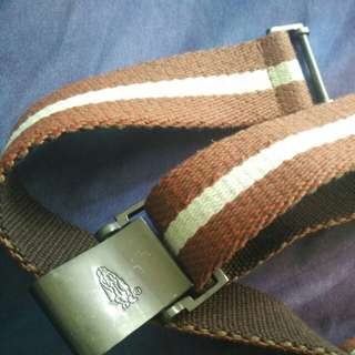 Hush puppies stripe belt