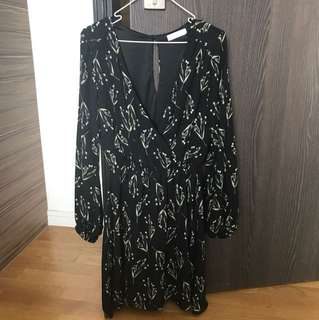 Floral long sleeved dress from USA