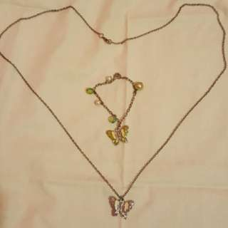 Butterfly fancy jewelry set